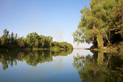 Reflections in the river Royalty Free Stock Photography