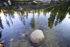 Reflections on the river Stock Photography