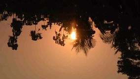 Reflections in the river of nature in the evening, Countryside at Thailand stock video footage
