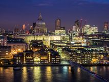 St Pauls and reflections in the Thames Royalty Free Stock Images