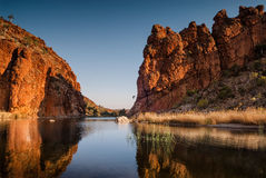 Reflections of rock formations. West MacDonnell Ranges, Northern Territory, Australia Stock Photography