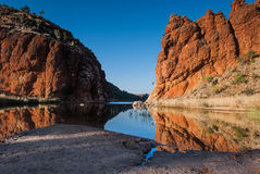 Reflections of rock formations. West MacDonnell Ranges, Northern Territory, Australia Stock Image