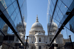 Reflections of Saint Pauls Cathedral Royalty Free Stock Image