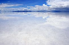 Reflections on the saltflats Stock Photo
