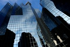 Reflections on skyscrapers Royalty Free Stock Photography