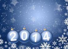 2014 with reflections and snow Royalty Free Stock Photos
