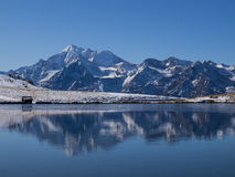 Reflections Of Snowcovered Mountains In Lake Royalty Free Stock Photo