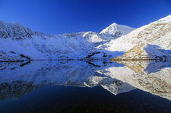 Reflections of Snowdon in Llyn Llydaw. Royalty Free Stock Images