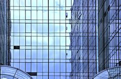 Reflections in Steel and Glass Architecture Stock Photos