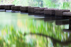 Reflections by Stepping Stones Royalty Free Stock Image