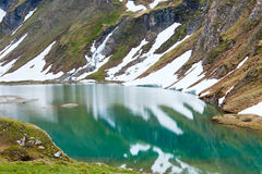 Reflections on the summer alpine lake Royalty Free Stock Photography