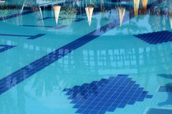 Reflections in a swimming pool Royalty Free Stock Images