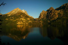 Reflections of the Tetons Royalty Free Stock Photo