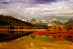 Reflections of the Tetons Stock Image