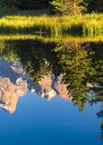 Reflections of the Tetons on the Snake River at Schwabacher Land Stock Image