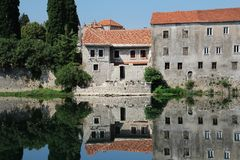 Reflections In Trebinje River, Bosna and Hercegovina royalty free stock images