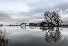 Reflections of Trees At Thurne Royalty Free Stock Photo