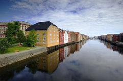 Reflections in Trondheim Stock Photo