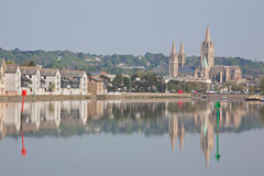 Reflections of Truro city Stock Photo