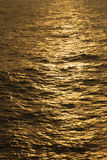 Reflections turn the Ocean Golden Royalty Free Stock Photos