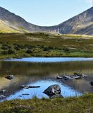 Reflections in a Valley in Chugach National Forest Stock Photography