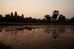 Sunrise view over Angkor Wat temple Royalty Free Stock Image