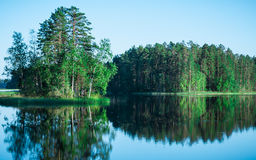 Reflections on water, Finnish nature Royalty Free Stock Photography