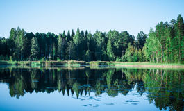 Reflections on water, Finnish nature Stock Image