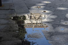 Reflections in the water of monuments. Royalty Free Stock Photos