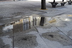 Reflections in the water of monuments. Royalty Free Stock Images