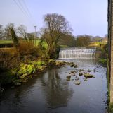 Reflections and the Weir Royalty Free Stock Images