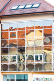 Distorted reflection of the house Royalty Free Stock Image