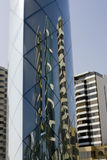 Reflective art of tall buildings in Lima Peru Stock Images
