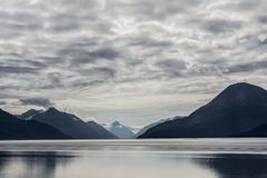 Reflective Beauty. Picture taken at the Cook Inlet in Girdwood Alaska stock images