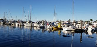Reflective boats royalty free stock images