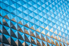 Reflective building with squares pattern Stock Images