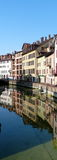 Reflective buildings in Annecy France Stock Images