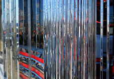 Reflective Chrome Abstract of a 50's era diner Stock Photo