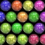 Reflective colored balls Stock Photo