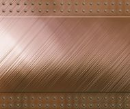 Reflective copper background. Highly polished and reflective copper background Stock Photography