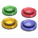 Reflective four button with stripes set Royalty Free Stock Photo