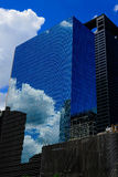 Reflective glass building. In downtown houston Royalty Free Stock Photography