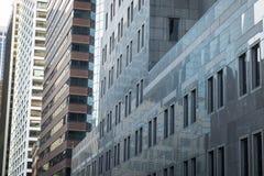 Reflective glass skyscrapers, Manhattan, New York City Stock Image