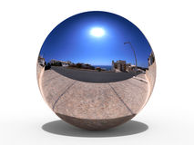Reflective glass sphere Stock Image