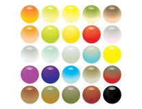 Reflective glassy spheres. Isolated on a whit background Royalty Free Stock Image