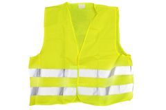 Reflective jacket. He image of reflective jacket under the white background Stock Image