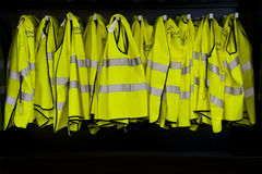 Reflective Jackets Cabinet Stock Images
