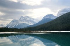 Reflective Lake. In Banff National Park Royalty Free Stock Photos