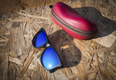 Reflective lightsun a sunglasses Royalty Free Stock Photography