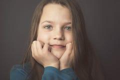 Reflective mood portrait Stock Photos